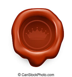 Sealing wax - Brown sealing wax. Crown with seven tips
