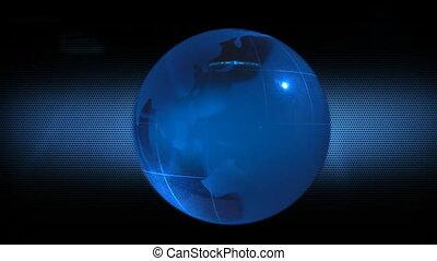 Globe on a futuristic background