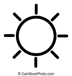 Weather web icon with sun