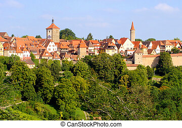 Medieval German village - View of the medieval town of...