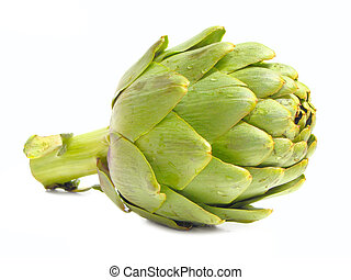 Isolated artichoke - Single artichoke isolated on white