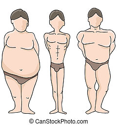 Male Body Shapes - An image of male body shapes.