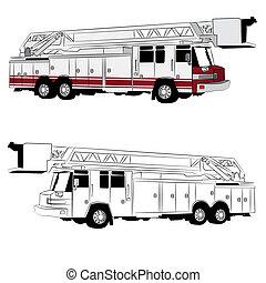 Hook and Ladder Fire Truck