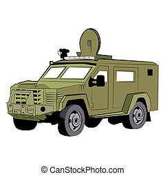 Armored SWAT Police Vehicle - An image of an armored police...