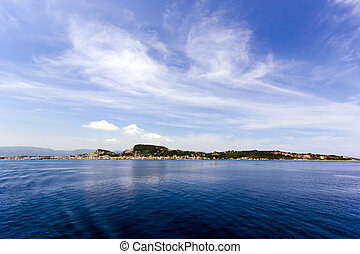 landscape of zante island - landscape of the beautiful...