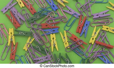 Assorted coloured paper clips. - Assorted coloured paper...