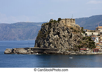 Stronghold of village Scilla in Calabria,Italy