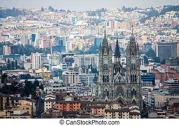 Quito Ecuador city view