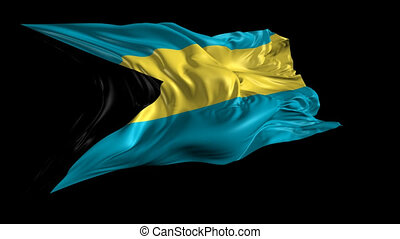 Flag of Bahamas - Beautiful 3d animation of Bahamas flag...