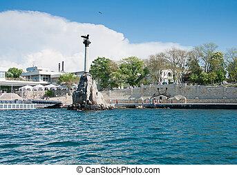 Scuttled Warships Monument in Sevastopol, Crimea - Monument...