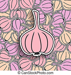 garlic background - vector garlic, vector ollection...