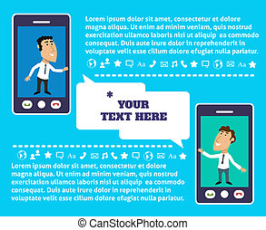 Mobile communication presentation - Business life employee...