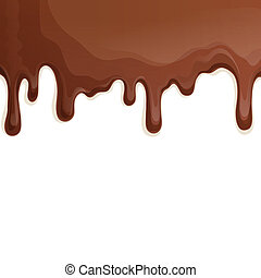 Milk chocolate drips background - Sweets dessert food milk...