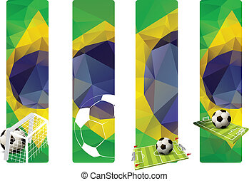 Set of Brazil concept color banners