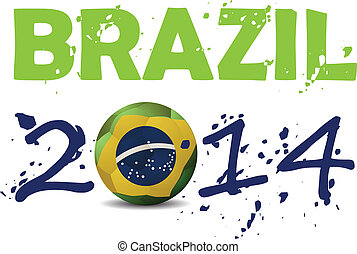 vector illustration brasil 2014
