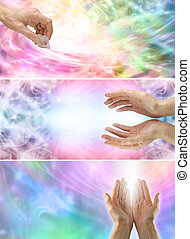 Healing Website Banners - Three different banners showing...