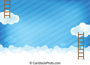 Cloud and blue background New 004 - Cloud and blue sky with...