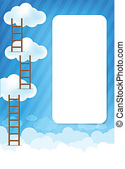 Cloud and blue background New 003 - Cloud and blue sky with...