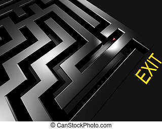 lost in maze looking for exit