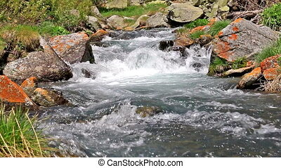 Beautiful river detail on the Pirineus Spain