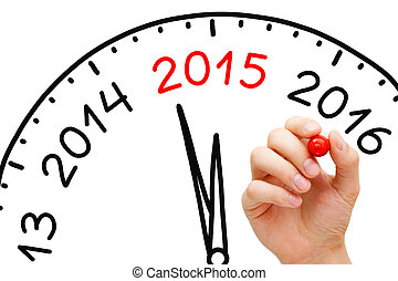 Year 2015 is Coming - Hand drawing New Year 2015 concept...