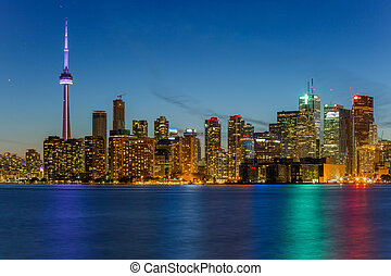 Toronto city at night - Toronto Downtown Skyline at night