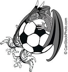 soccer dragon tatto tshirt2 - soccer medieval dragon tatto...