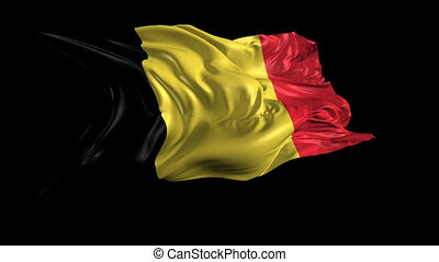 Flag of Belgium - Beautiful 3d animation of the Belgium with...