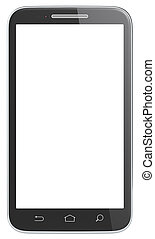 Isoladed Smartphone - Black Smartphone with classic hard...