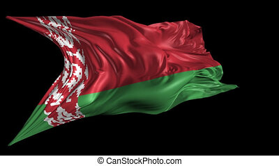 Flag of Belarus - Beautiful 3d animation of Belarus flag...