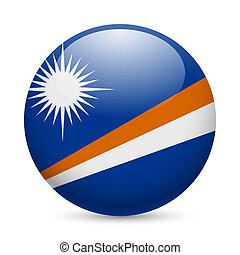 Round glossy icon of Marshall Islands - Flag of Marshall...
