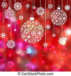 Card with christmas balls. EPS 8