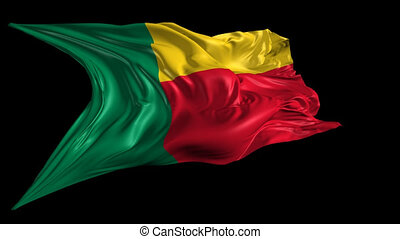 Flag of Benin - Beautiful 3d animation of the Benin flag...