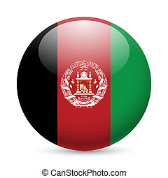 Round glossy icon of Afghanistan - Flag of Afghanistan as...