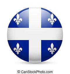 redondo, brillante, icono, Québec