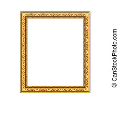 Picture ornate frame isolated on white background