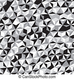 Black White Gray Triangle Pattern
