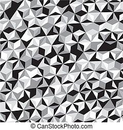 Black White Gray Triangle Pattern