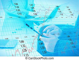 stock exchange chart