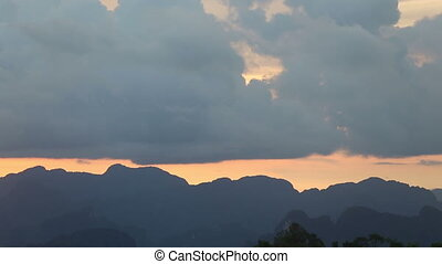horizontal mountain sunset telephoto - horizontal mountain...