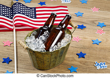 Party Time for the fourth of July - Horizontal photo of...