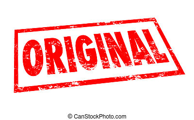 Original Word Stamp Red Ink First Authentic Originality...