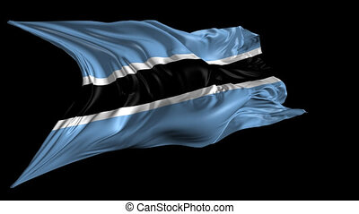 Flag of Botswana - Beautiful 3d animation of the Flag of...