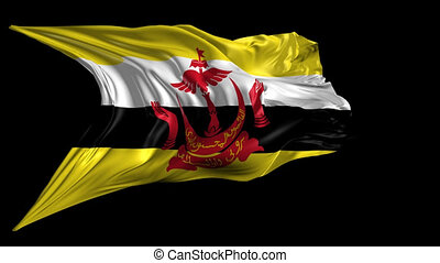 Flag of Brunei - Beautiful 3d animation of the Flag of...