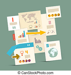 Vector Infographics Paper Layout - Template