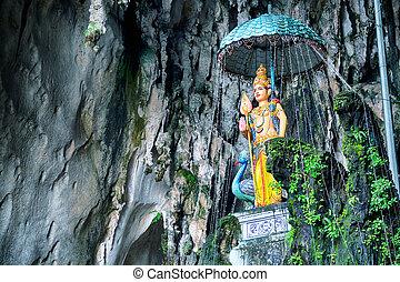 Batu Cave, Kuala Lumpur - Malaysia - Hindu godess in the...