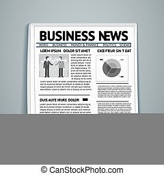 vector business newspaper - vector newspaper with business...