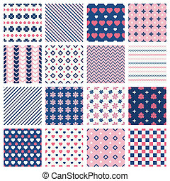 Geometric patterns - Set of geometric seamless patterns and...