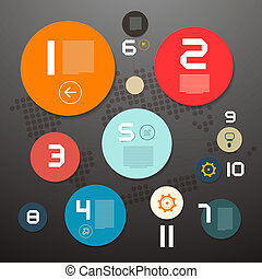 Circle Paper Vector Infographics Layout