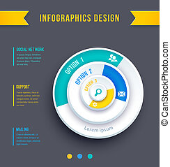 Business Pie Chart - Vector illustration of business Pie...